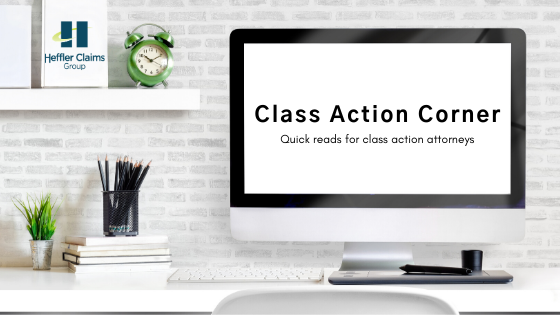 Class Action Corner blog header